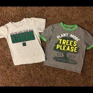 Boys Nike Baby Gap Shirt Lot Size 5/6.